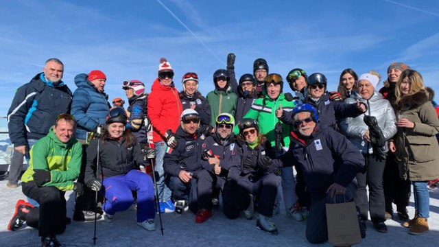 JOURNALISTS SKIERS ON THE MARMOLADA: AN EXCITING SUCCESS
